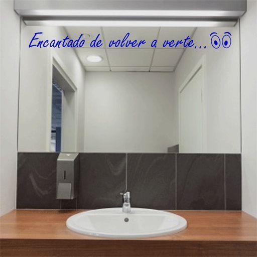 23 vinilos para el espejo del ba o lindos vinilos para for Espejos para pegar
