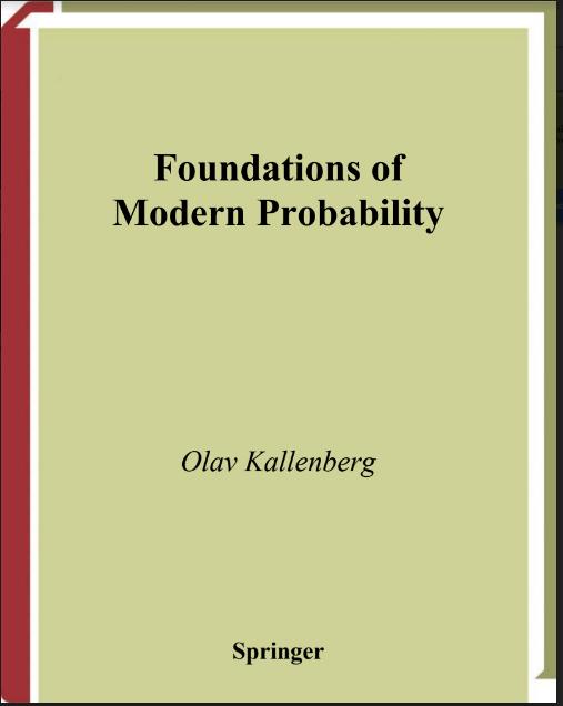 Foundations Of Modern Probability By Olav Kallenberg Mathematics