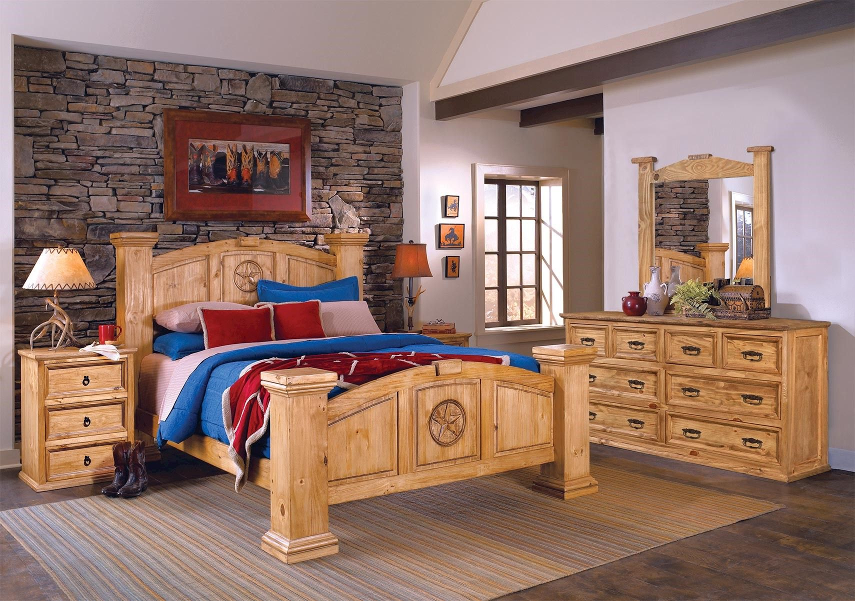 Lacks | Texas Rustic 4-Pc King Bedroom Set | Bedroom sets ...