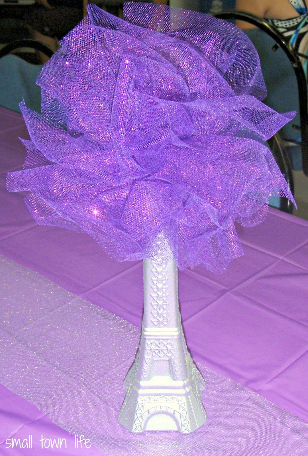 Eiffel tower vase centerpiece ideas bridal shower