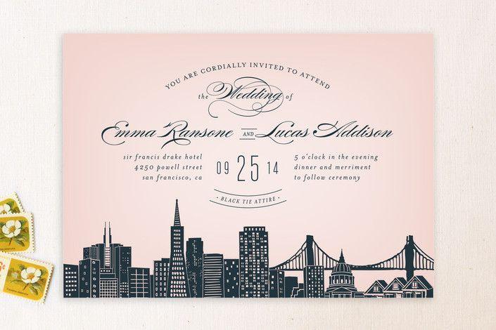 How Big Are Wedding Invitations: Big City - San Francisco
