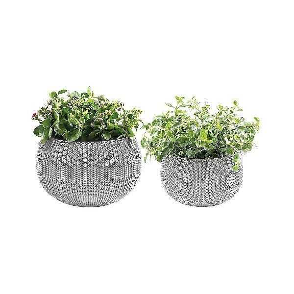 And Medium Cozy Knit Planter Set ($31) ❤ liked on Polyvore ...