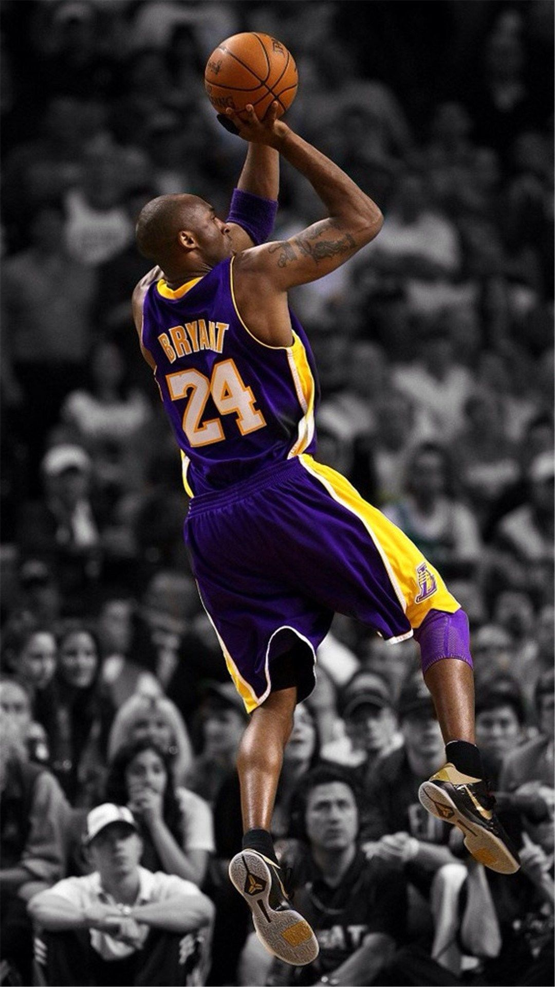 NBA Super Star Brant Kobe Show iPhone 8 Wallpapers (With