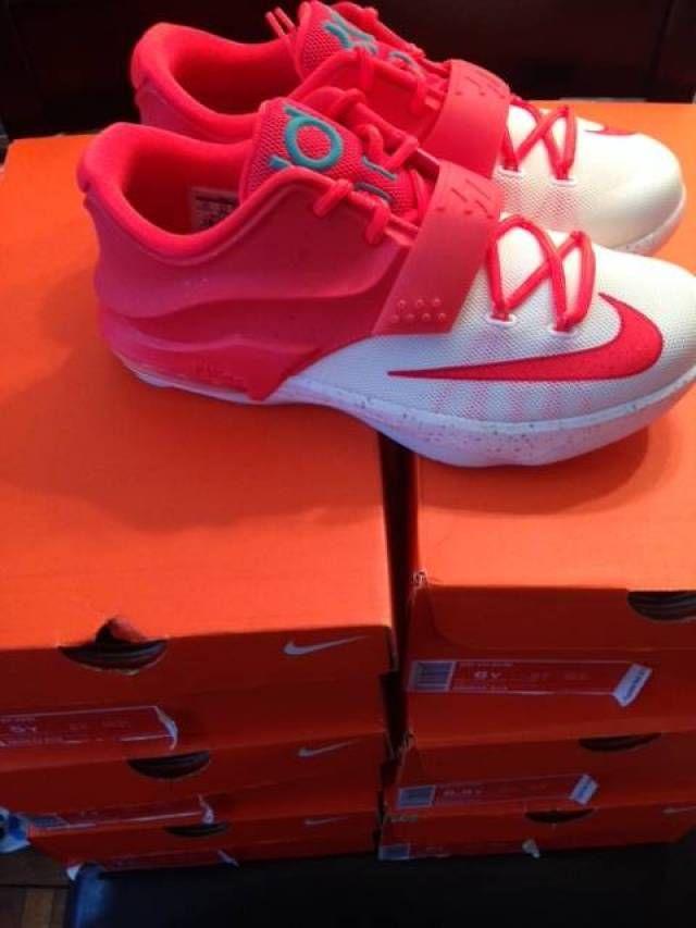 size 40 465a2 9bd7c Nike KD 7 Crimson Limited Edition Egg Nog Boys  Grade School   Kixify  Marketplace