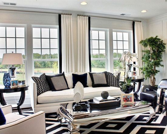 Ordinaire Mesmerizing Contemporary Black And White Living Room Ideas Also Cool White  Couch And Armchair Also