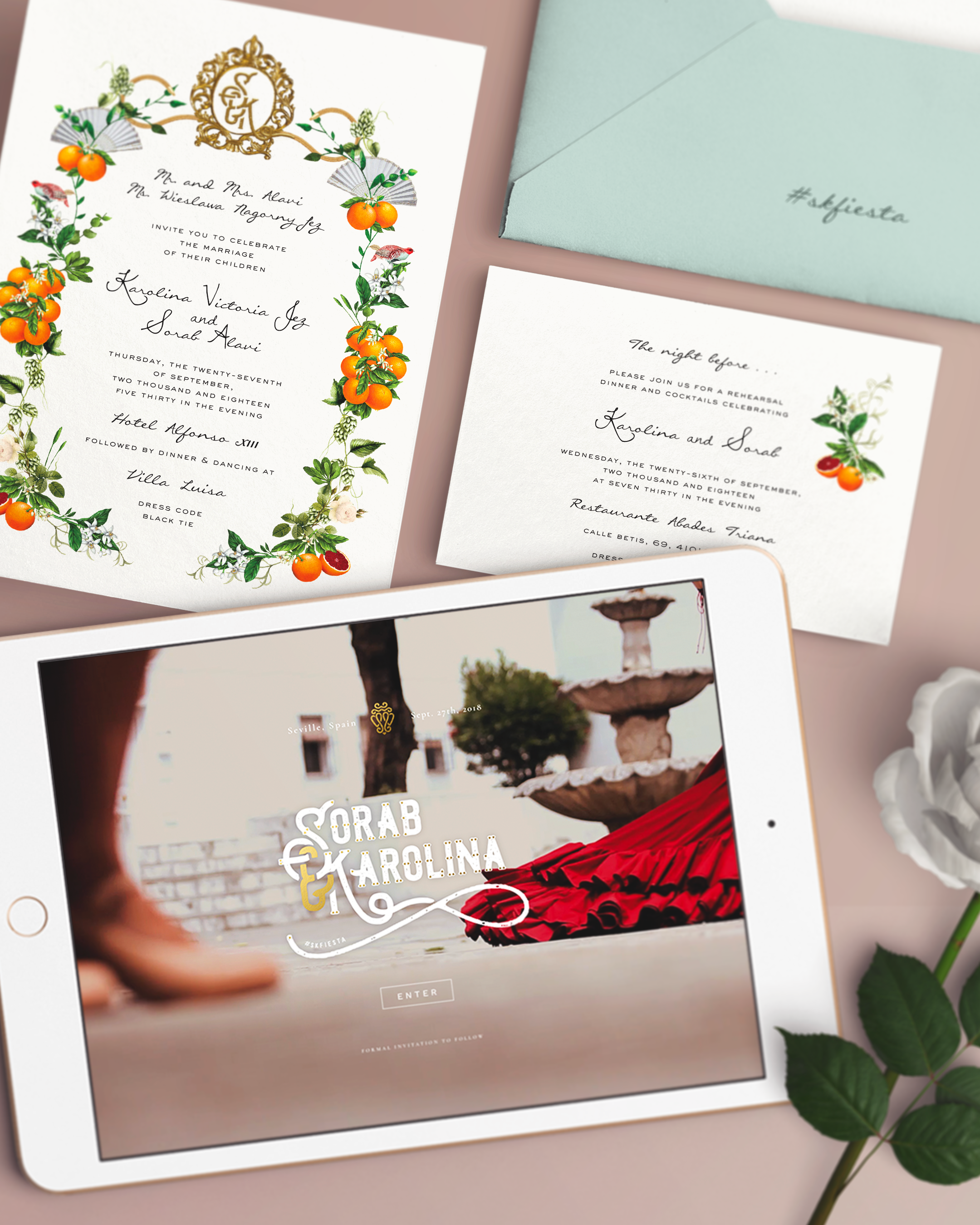 Wedding Ready With The Spanish Themed Invitations Website
