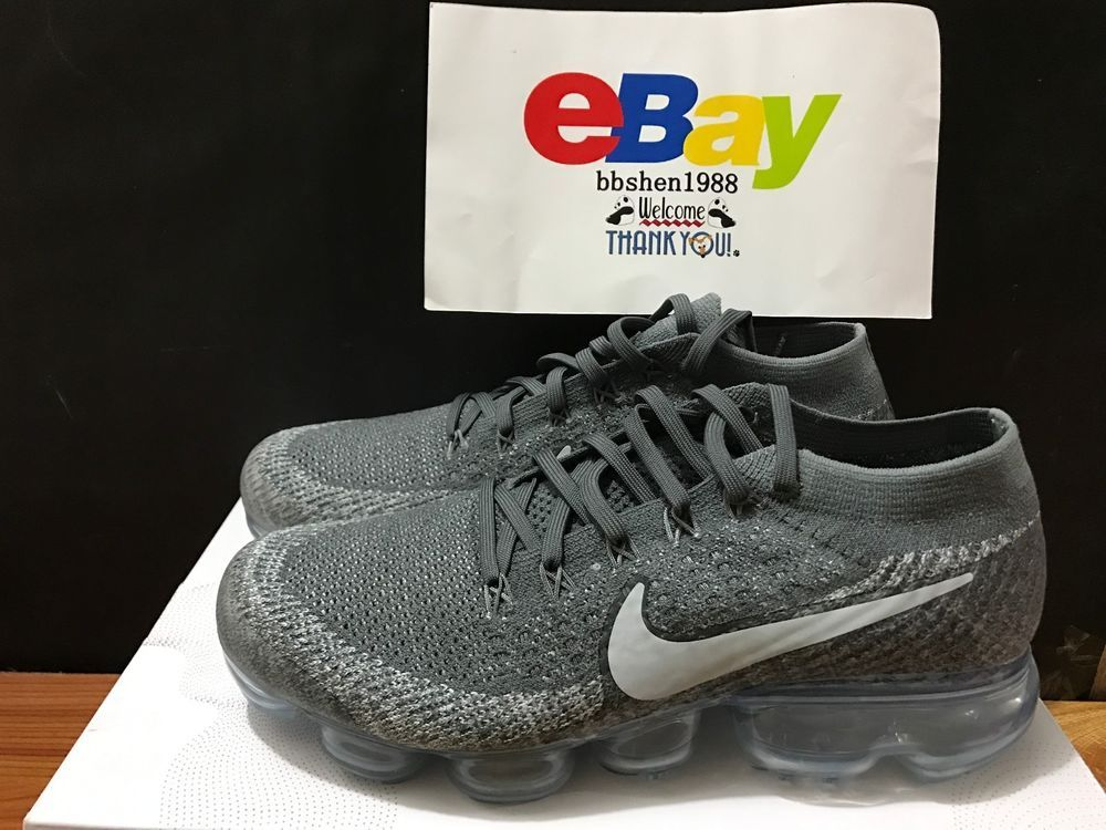 12ed3416bb4 New Men Nike Air VaporMax Flyknit Asphalt Dark Grey Platinum 849558-002   Nike