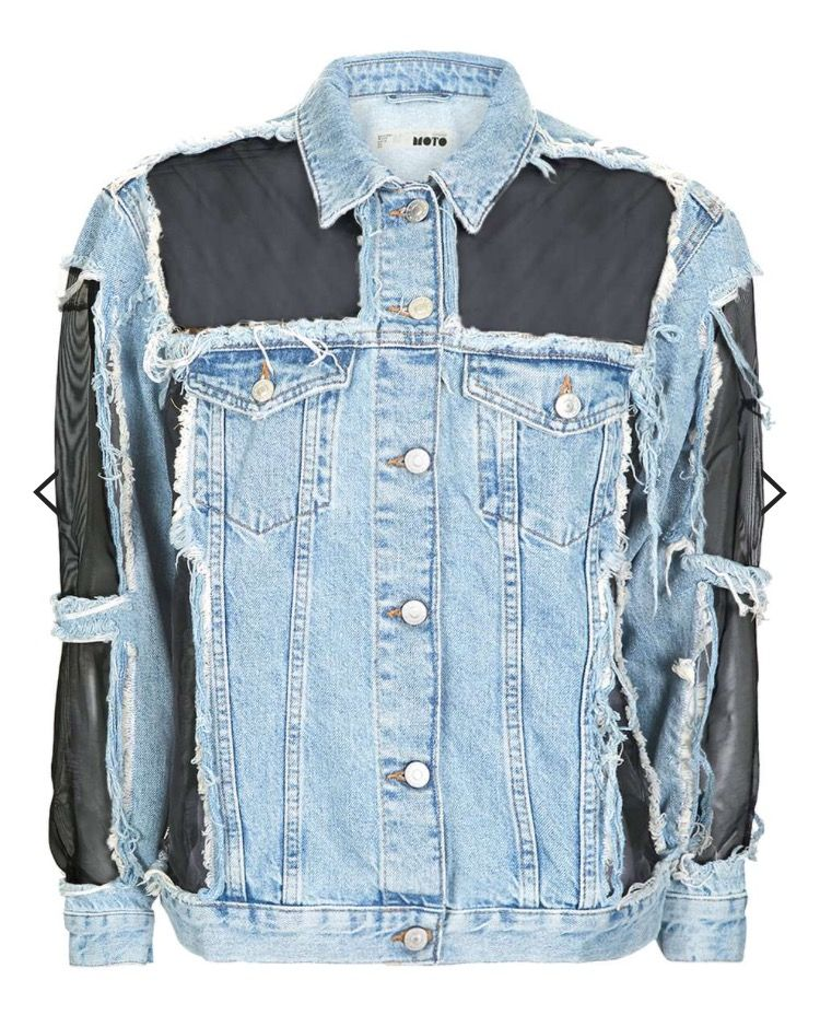 d32ed67ce DIY - mesh denim jacket   DIY Fashion   Petite denim jacket ...