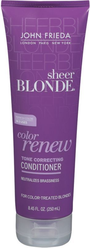 John Frieda Sheer Blonde Color Renew Tone Restoring Conditioner Ulta Com Cosmetics Fragrance Salon And Beauty Gifts Purple Shampoo Shampoo Hair Care Oil