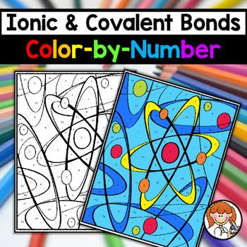 Ionic Covalent Bonds Color By Number Ionic Covalent Bonds