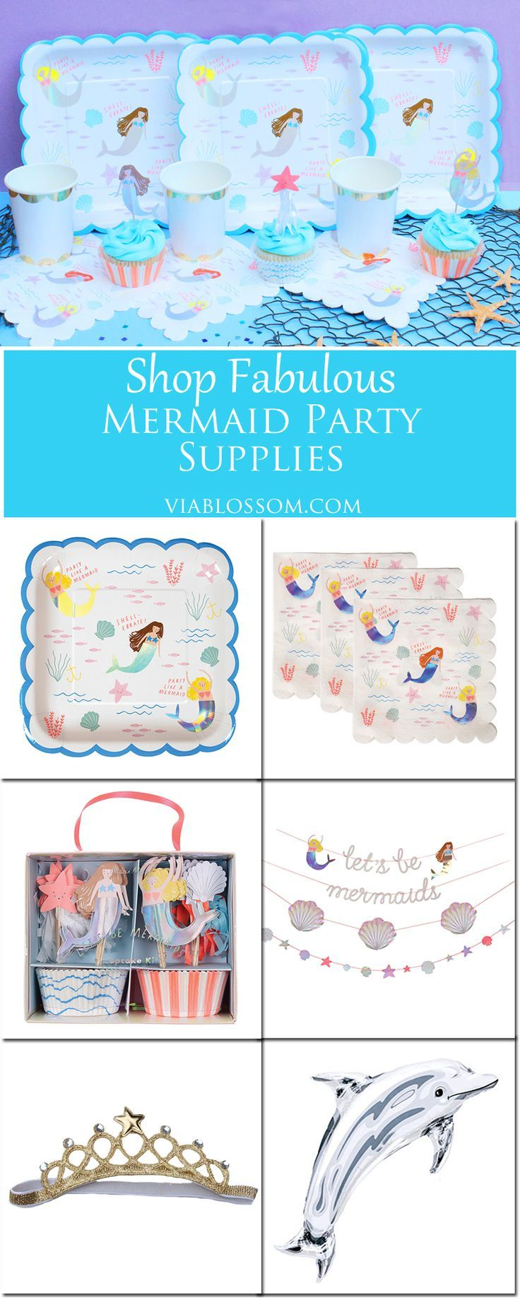 Fabulous Mermaid Party Supplies for an Under the Sea Party!