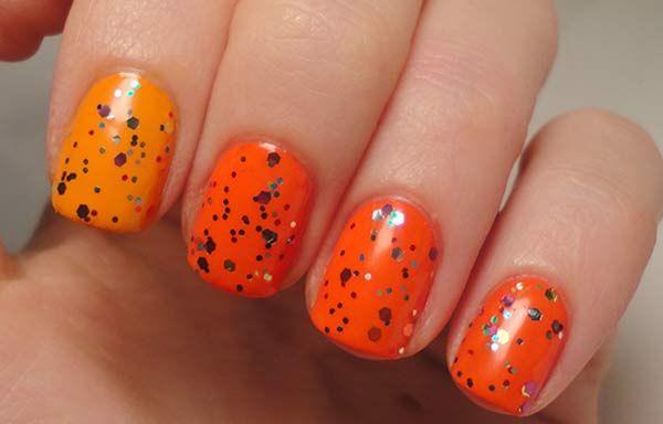 Uñas decoradas color naranja, uñas decoradas colores naranjas.  Join nails CLUB! #uñasdecolores #corunhas #uñaselegantes