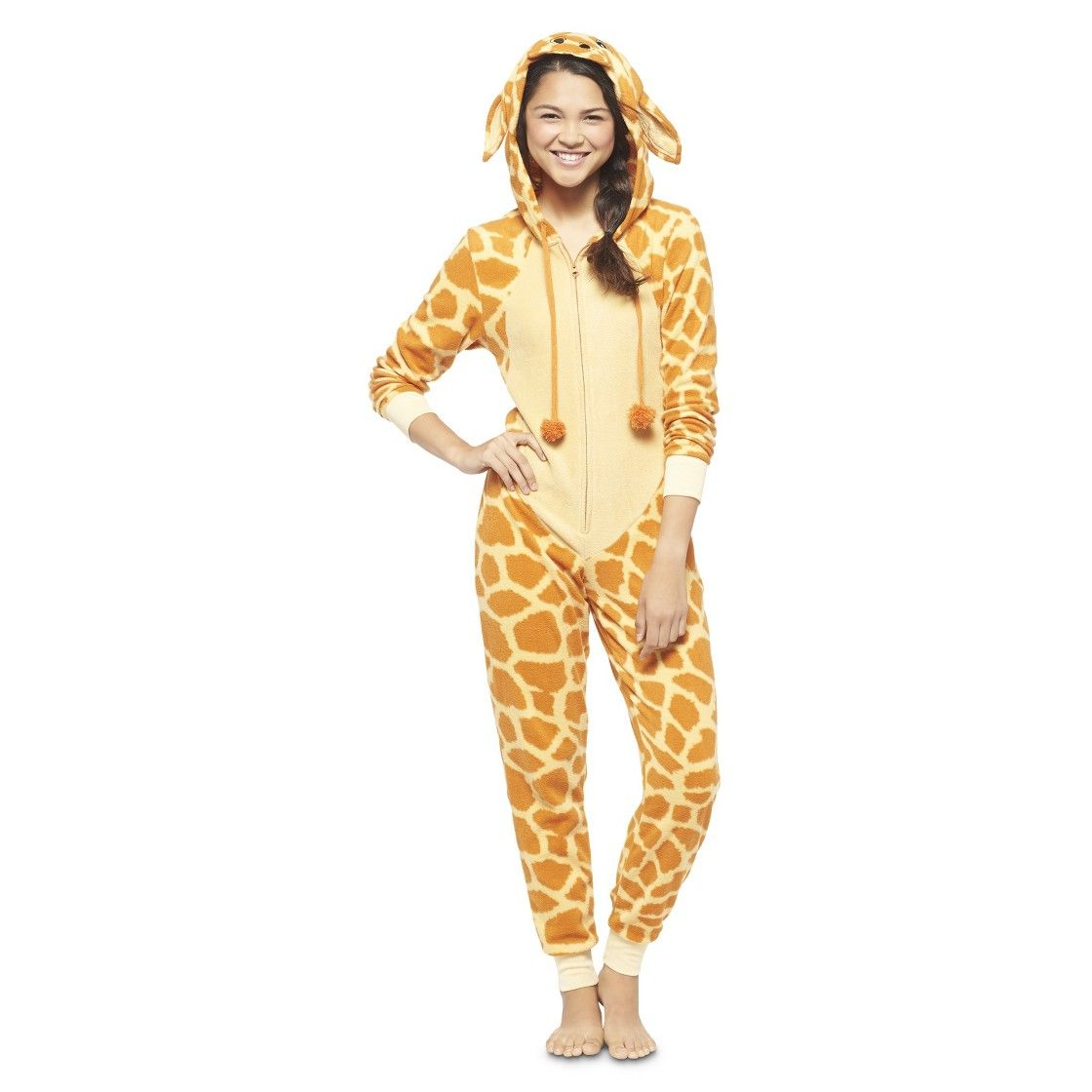 26ac5abfc409 Women s Giraffe Footie PJ Yellow. Haha me and my friend were just talking  about these!!