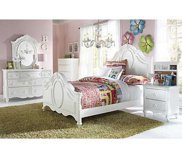 Sweetheart Twin Panel Bed | Emily/Carrington new room in ...
