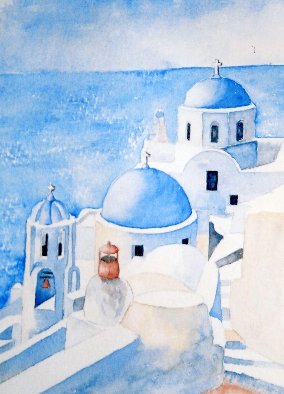 Santorin Grece 2 2006 Santorini Comment Peindre Et Peinture