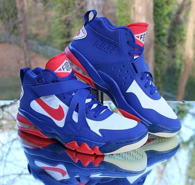 482f8ca614 Nike Air Force Max CB 2 Hyperfuse Charles Barkley 616761-400 Blue Red Size  14 #Nike #BasketballShoes