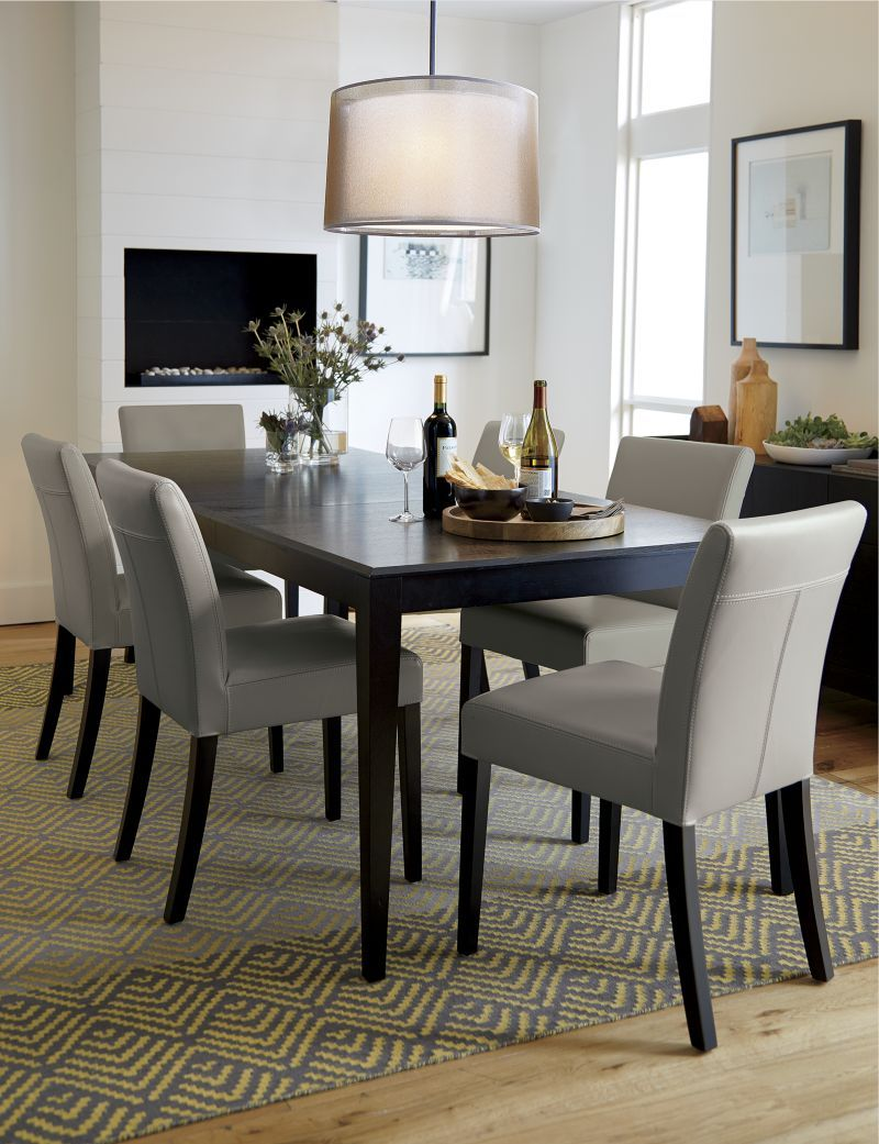 Lowe Pewter Leather Side Chair In 2020 Dining Room Small Dining Chairs Leather Dining Chairs