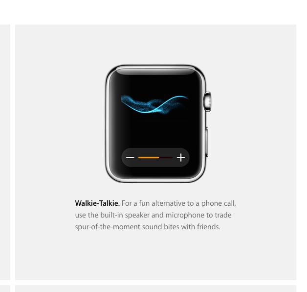 Apple Watch gets WalkieTalkie mode (With images) Walkie