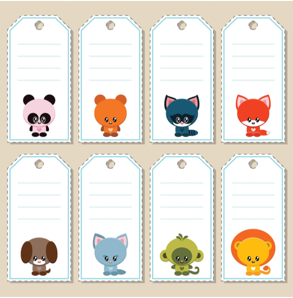 Name Labels Tags Notes Printables Vol 1 Kidspressmagazine Com Teddy Images School Labels Printables Cute Animal Names