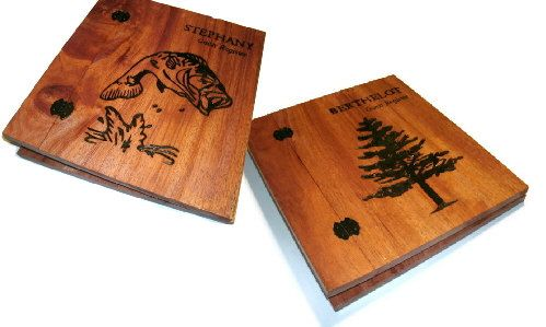 Set Of Two Customized Wood Scrapbooks By Billswoodenpleasures 135 00 Photo Album Scrapbooking Custom Scrapbook Etsy Finds