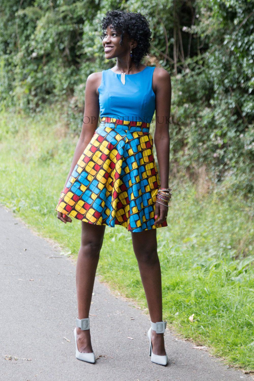 Short african print dress summer african print dress party african
