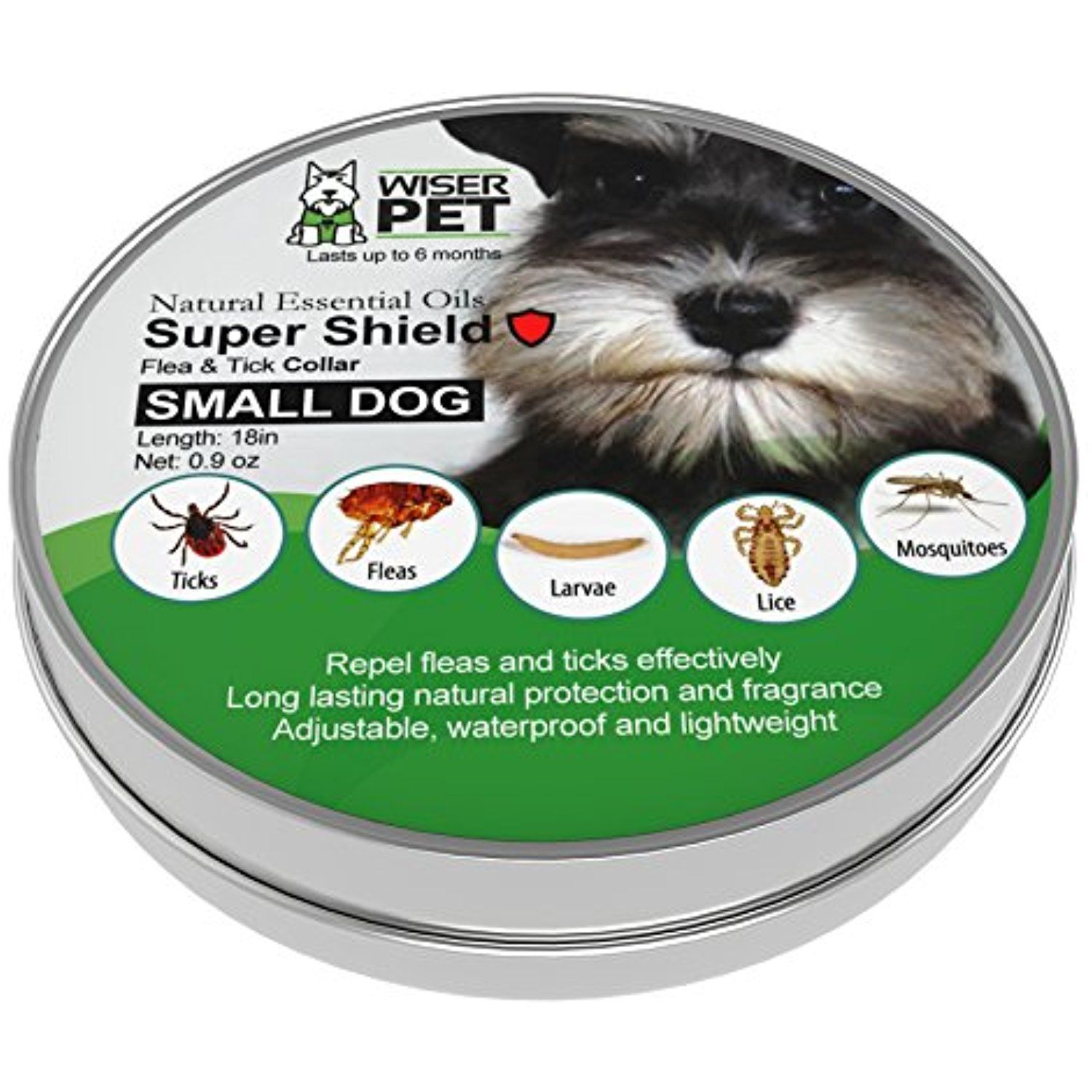 Natural Flea Collar For Small Dogs Prevent Fleas Ticks Lice And Mosquitoes All Natural Chemical And Toxin Free Safe For Small Dogs Mosquito Flea Collar