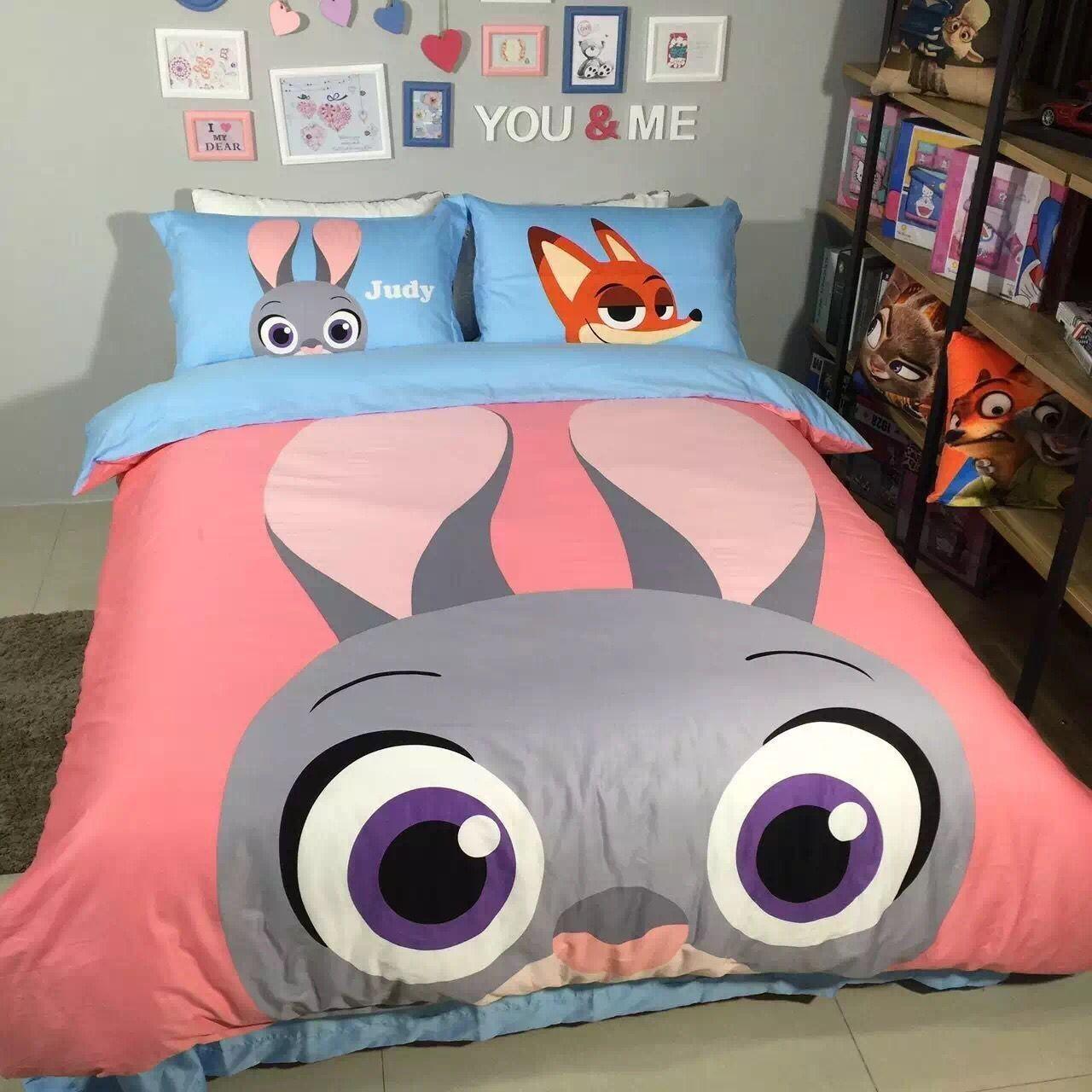 Judy Hopps Rabbit Queen Size Duvet Cover Bedding Sets