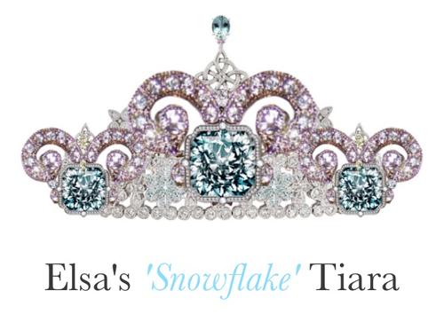 Tiara Disney Princesa Elsa Belleza Joyas