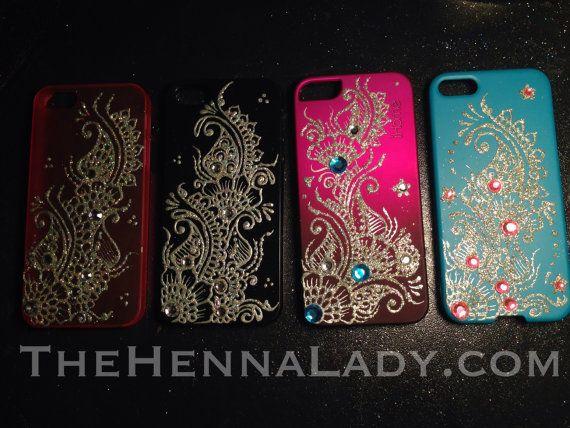 Custom mehndi design iPhone Android case by TheHennaLadyDotCom ...