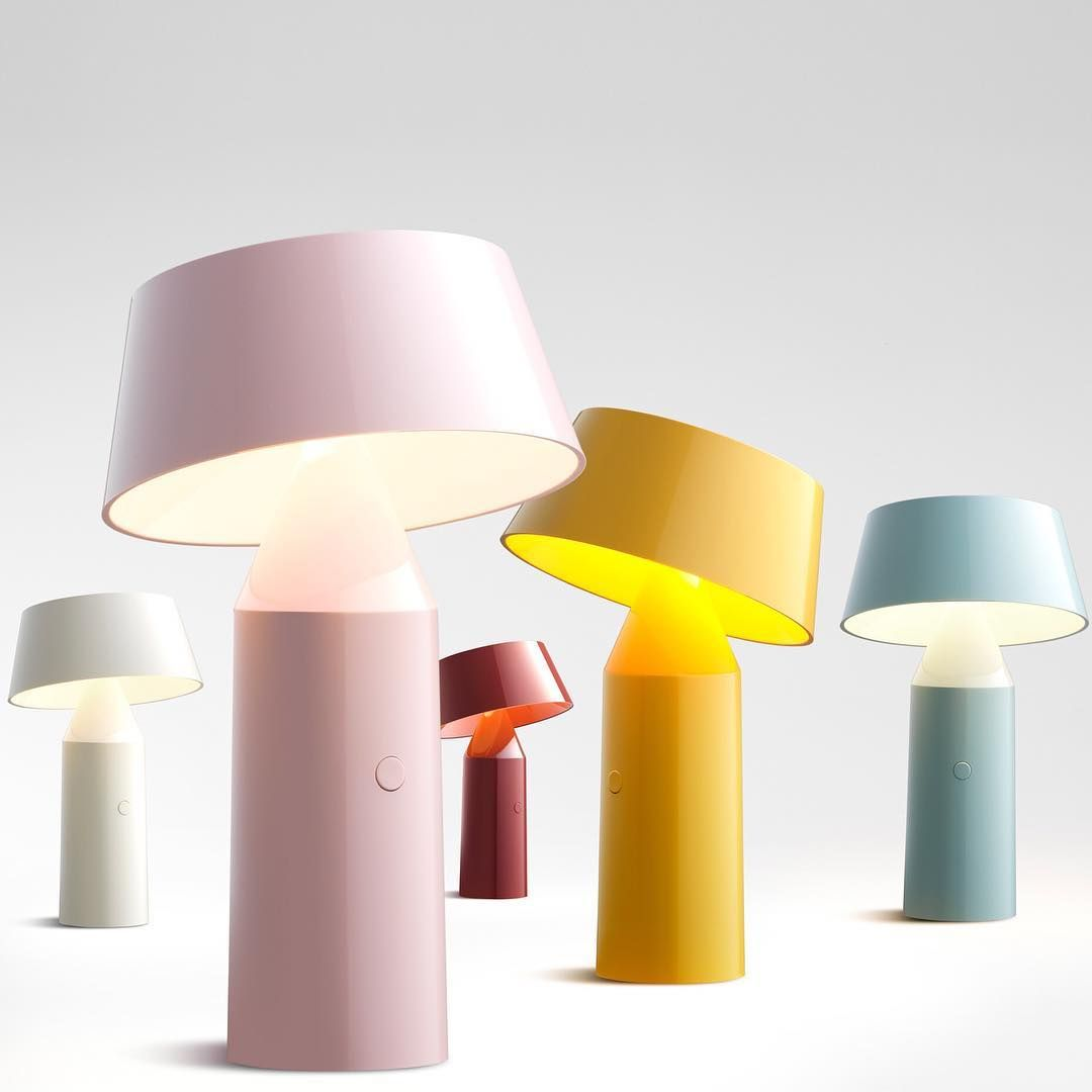 Christophe Mathieu 39 S Bicoca Cordless Lamp For Marsetbcn Features A Tiltable Shade For Directing Light And Is Available In A Table Lamp Cordless Lamps Lamp