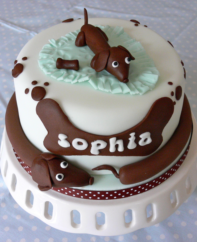Sausage Dogdachshund Cake Dogcake Hoagie Board Pinterest Dog
