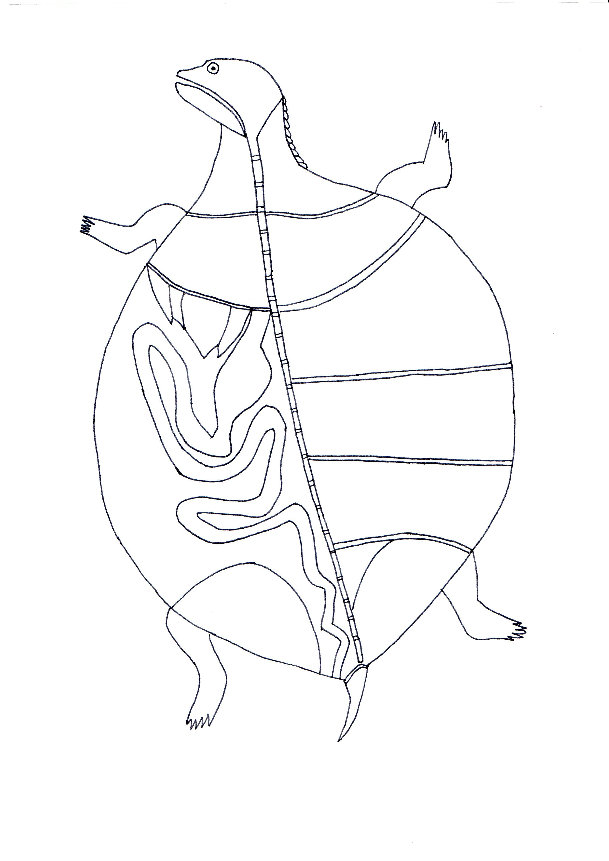 Aboriginal Bark Painting Worksheet