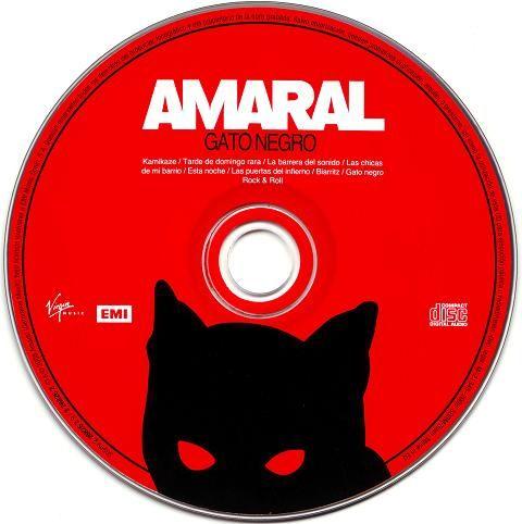 "Amaral ""Gato Negro / Dragón Rojo"" (Galleta CD)"