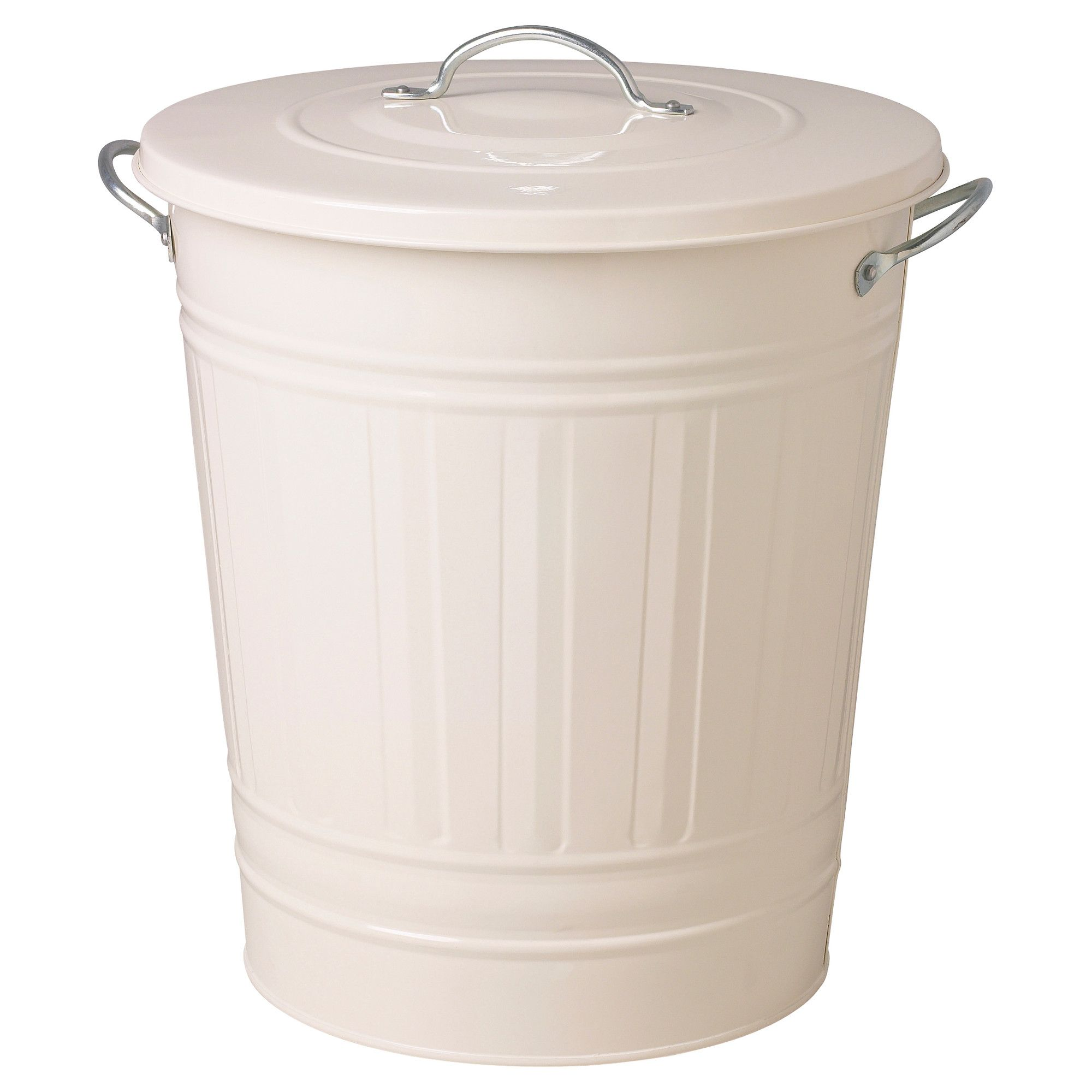 KNODD Bin With Lid   White, 11 Gallon   IKEA White, Black, Galvanized   $25  / 11 Gallon