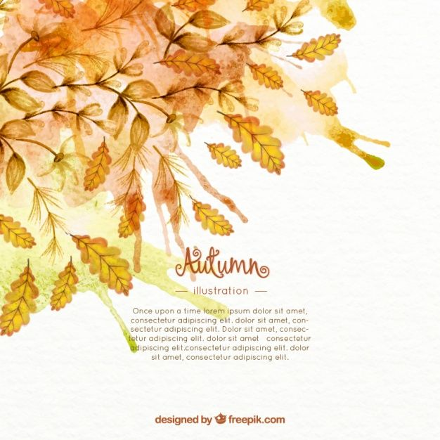 Download Watercolor Autumn Leaves Background For Free Autumn