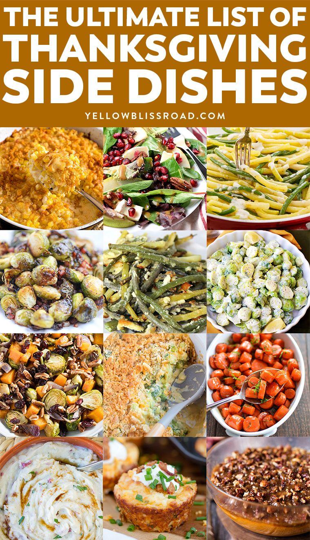 Thanksgiving Side Dishes Thanksgiving dinner menu