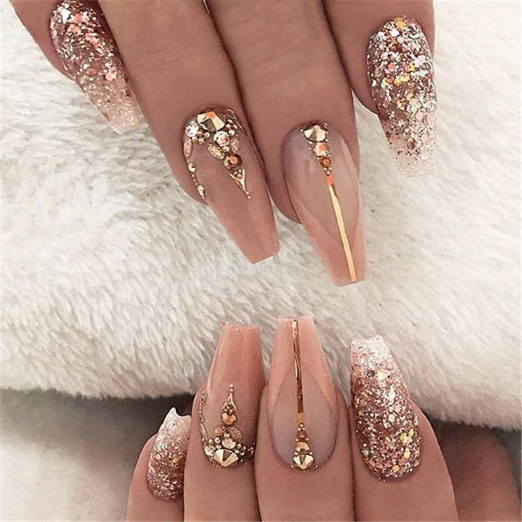2019 hot fashion coffin nail Trend ideas, Long Coffin nails