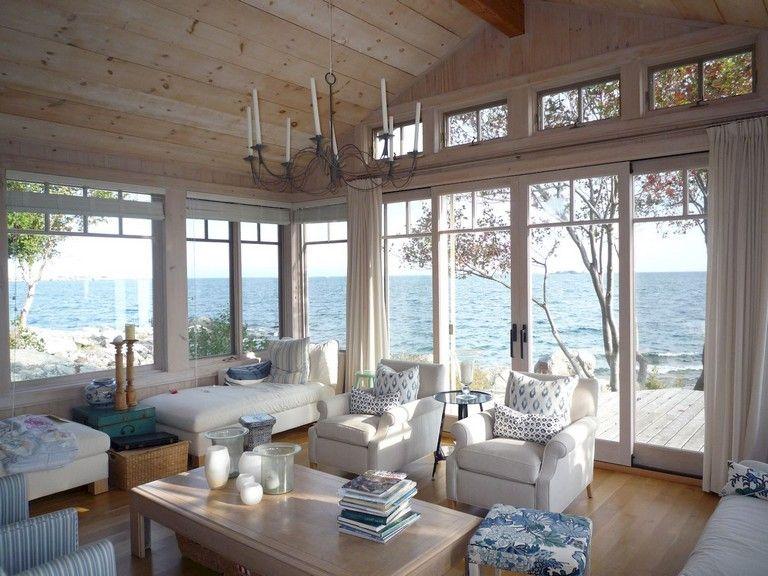 42+ Comfy Lake House Living Room Decor Ideas images