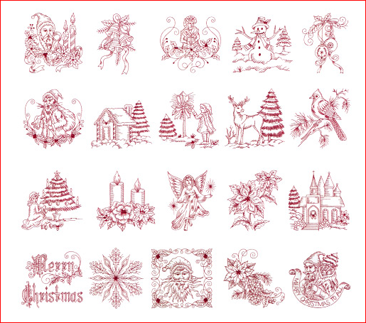 Christmas Embroidery Patterns Free.Free Christmas Paper Embroidery Patterns Floriani