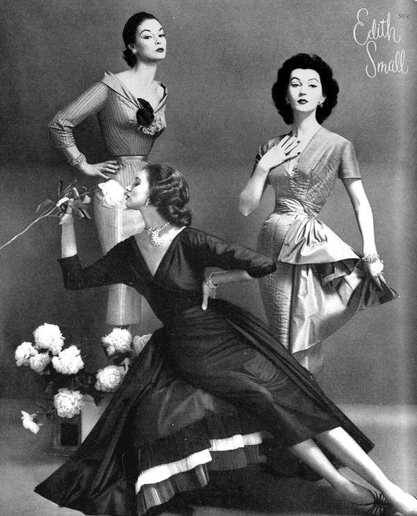 Jean Patchett, Suzy Parker, and Dovima, photo by Constantine Joffe, 1955