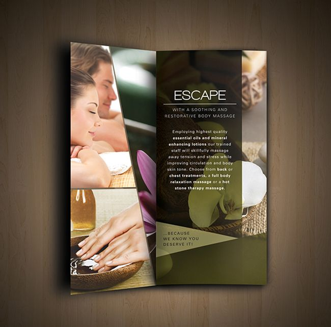 Amazing Nav Spa Brochure Ideas  Graphics    Brochures