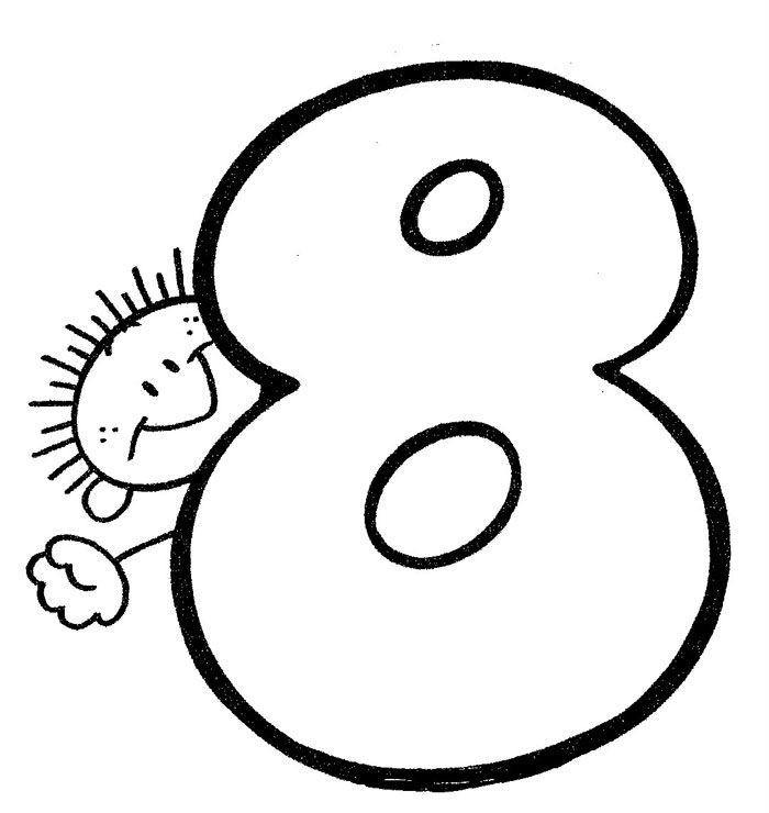 Numero 8 Numero Para Colorear Material Didactico Para Ninos Numeros Para Ninos