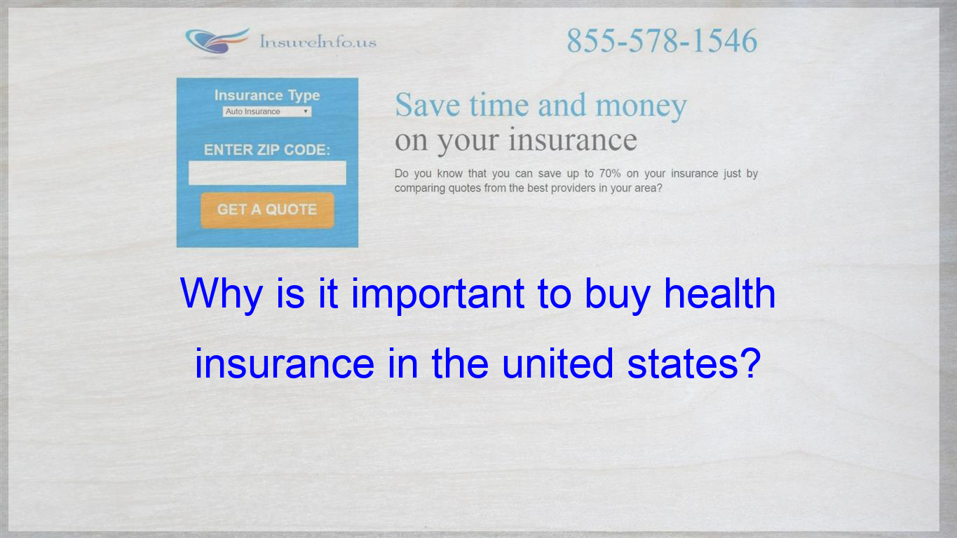 Why Is It Important To Buy Health Insurance In The United States