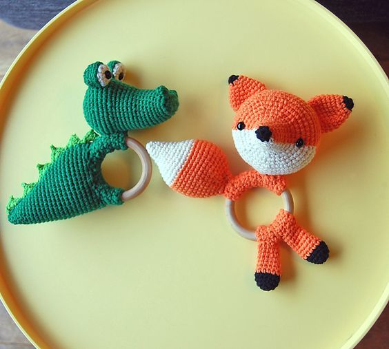 Ravelry: kabeltrui's Rattle Toys For Twin Baby Boys #amigurumi