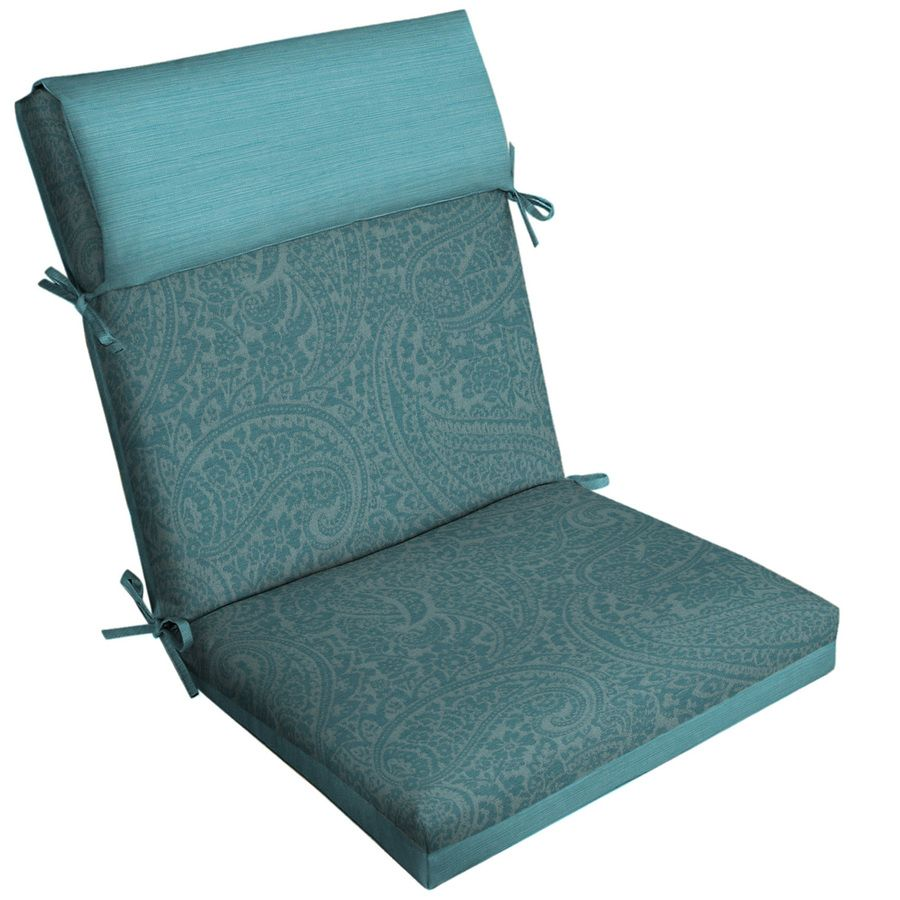 Allen Roth Paisley High Back Patio Chair Cushion For High Back