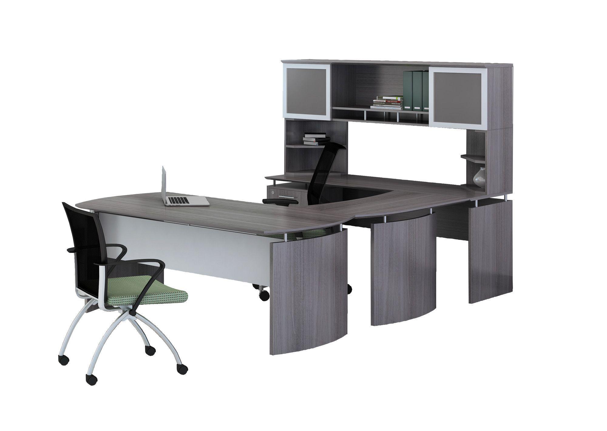 Medina Series U-Shape Computer Desk with Hutch