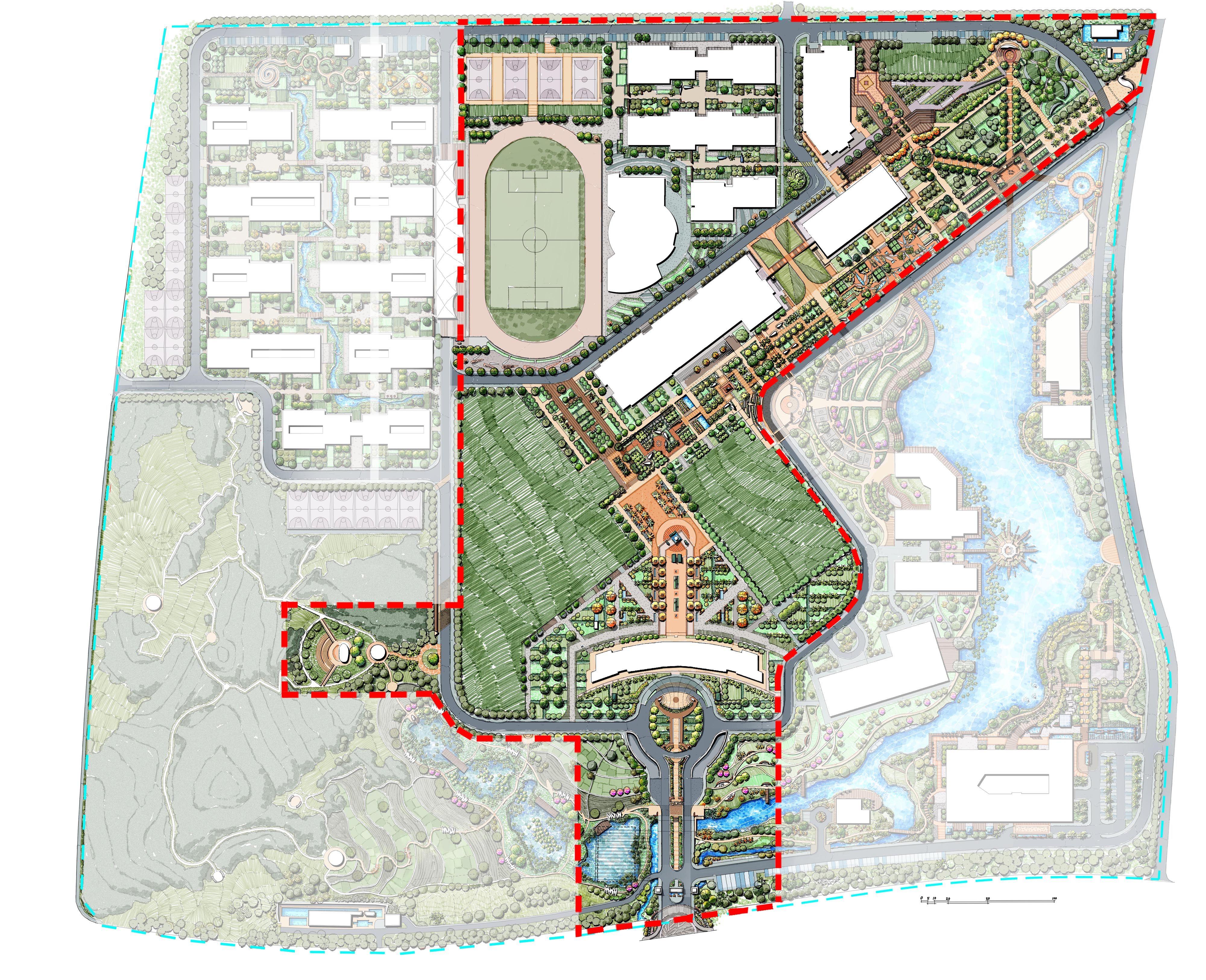 Nanjing Tech University Landscape Master Plan Master Plan Landscape Architecture Design Landscape