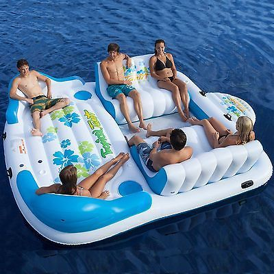 Inflatable Party Raft 6 Person Blow Up Float Pontoon Boat