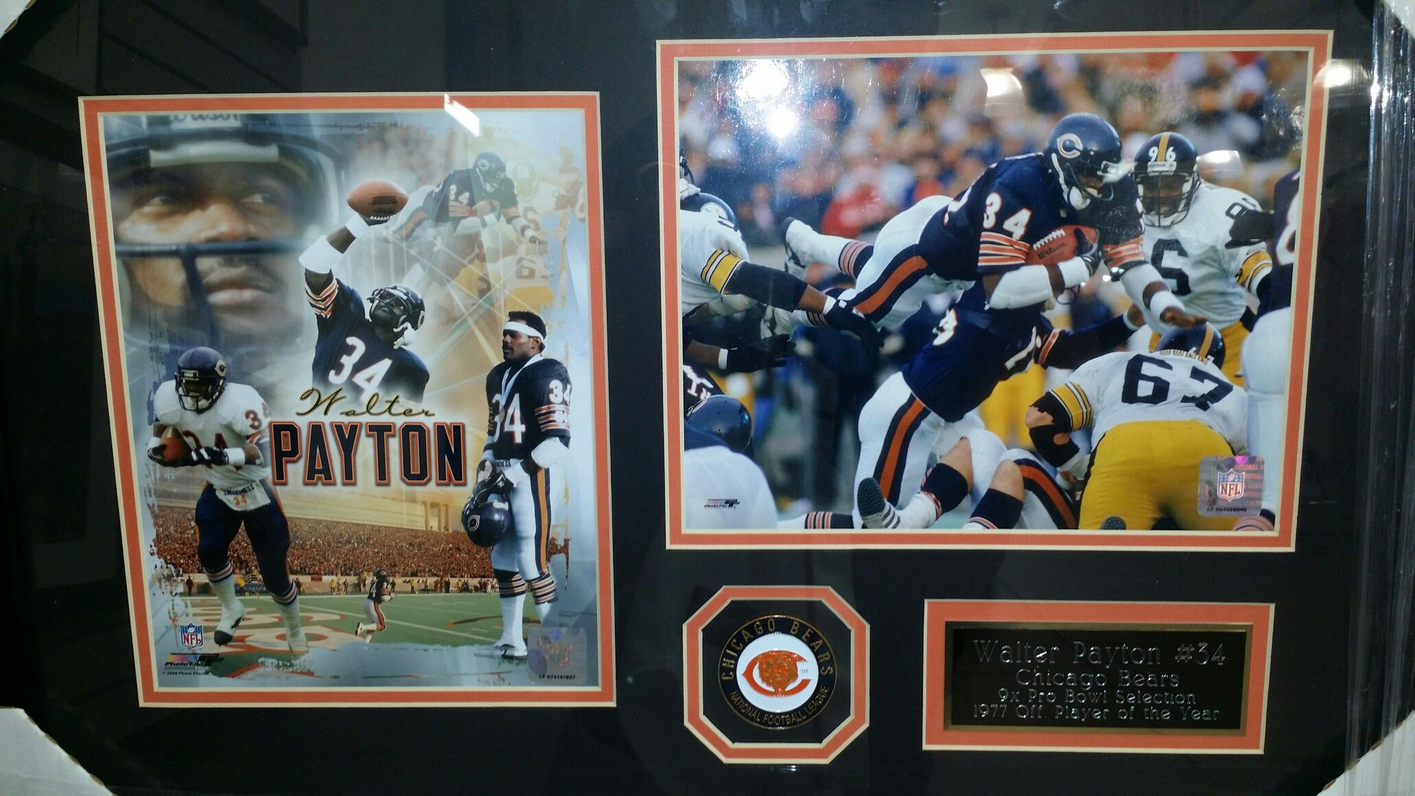 Walter payton Chicago Bears frame#football #jersey#nfl#chicago#bears ...