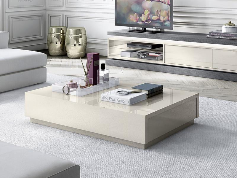 Avantgarde Modern Coffee Table In Ivory High Gloss 2 Coffee